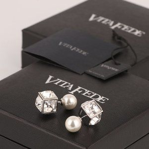 Vita fede pearl and square earrings